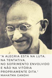 frase sobre alegria Mahatma Gandhi