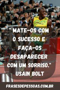 frase atleta campeão Usain Bolt